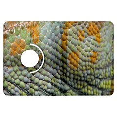 Macro Of Chameleon Skin Texture Background Kindle Fire HDX Flip 360 Case by Simbadda