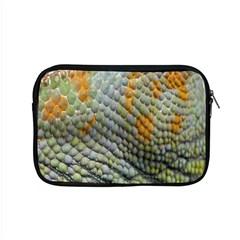 Macro Of Chameleon Skin Texture Background Apple Macbook Pro 15  Zipper Case by Simbadda
