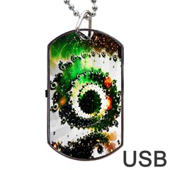 Fractal Universe Computer Graphic Dog Tag Usb Flash (two Sides) by Simbadda