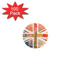 Union Jack Abstract Watercolour Painting 1  Mini Magnets (100 Pack)  by Simbadda