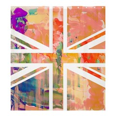 Union Jack Abstract Watercolour Painting Shower Curtain 66  X 72  (large)  by Simbadda