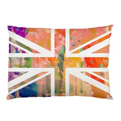 Union Jack Abstract Watercolour Painting Pillow Case (two Sides) by Simbadda