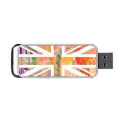 Union Jack Abstract Watercolour Painting Portable Usb Flash (one Side) by Simbadda