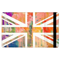 Union Jack Abstract Watercolour Painting Apple Ipad 2 Flip Case by Simbadda