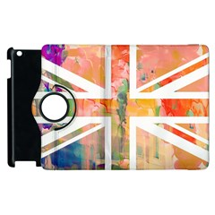 Union Jack Abstract Watercolour Painting Apple Ipad 3/4 Flip 360 Case by Simbadda