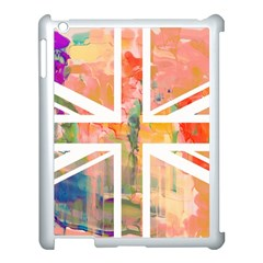 Union Jack Abstract Watercolour Painting Apple Ipad 3/4 Case (white) by Simbadda