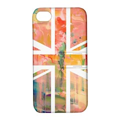 Union Jack Abstract Watercolour Painting Apple Iphone 4/4s Hardshell Case With Stand by Simbadda