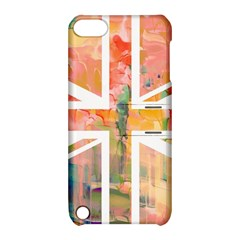 Union Jack Abstract Watercolour Painting Apple Ipod Touch 5 Hardshell Case With Stand by Simbadda