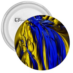 Blue And Gold Fractal Lava 3  Buttons by Simbadda