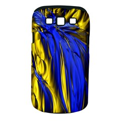Blue And Gold Fractal Lava Samsung Galaxy S Iii Classic Hardshell Case (pc+silicone) by Simbadda