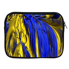 Blue And Gold Fractal Lava Apple Ipad 2/3/4 Zipper Cases by Simbadda