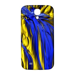 Blue And Gold Fractal Lava Samsung Galaxy S4 I9500/i9505  Hardshell Back Case by Simbadda
