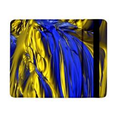 Blue And Gold Fractal Lava Samsung Galaxy Tab Pro 8 4  Flip Case by Simbadda