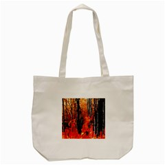 Forest Fire Fractal Background Tote Bag (cream) by Simbadda