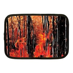 Forest Fire Fractal Background Netbook Case (medium)  by Simbadda