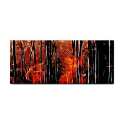 Forest Fire Fractal Background Cosmetic Storage Cases by Simbadda