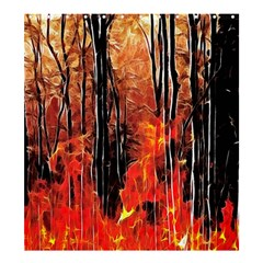 Forest Fire Fractal Background Shower Curtain 66  X 72  (large)  by Simbadda