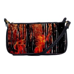 Forest Fire Fractal Background Shoulder Clutch Bags by Simbadda
