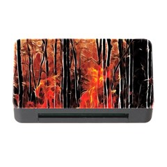 Forest Fire Fractal Background Memory Card Reader With Cf by Simbadda