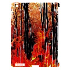 Forest Fire Fractal Background Apple Ipad 3/4 Hardshell Case (compatible With Smart Cover) by Simbadda