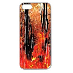 Forest Fire Fractal Background Apple Seamless iPhone 5 Case (Clear)