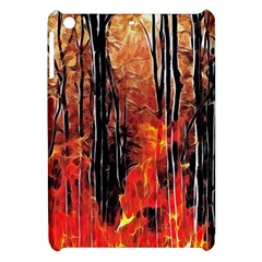 Forest Fire Fractal Background Apple Ipad Mini Hardshell Case by Simbadda