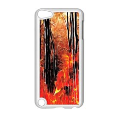 Forest Fire Fractal Background Apple Ipod Touch 5 Case (white) by Simbadda