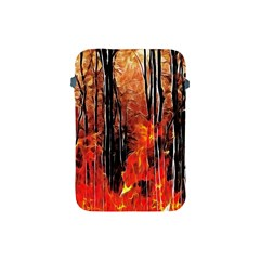 Forest Fire Fractal Background Apple Ipad Mini Protective Soft Cases by Simbadda