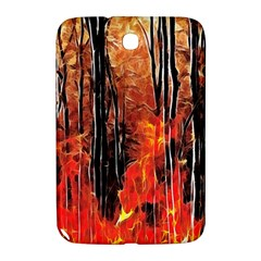 Forest Fire Fractal Background Samsung Galaxy Note 8 0 N5100 Hardshell Case  by Simbadda