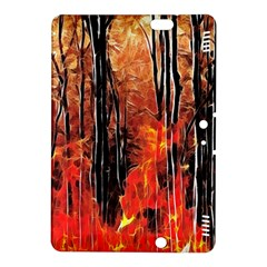 Forest Fire Fractal Background Kindle Fire Hdx 8 9  Hardshell Case by Simbadda