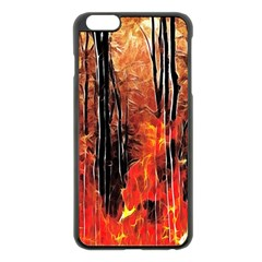 Forest Fire Fractal Background Apple Iphone 6 Plus/6s Plus Black Enamel Case by Simbadda