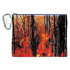 Forest Fire Fractal Background Canvas Cosmetic Bag (xxl) by Simbadda