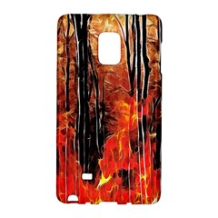Forest Fire Fractal Background Galaxy Note Edge by Simbadda