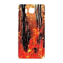 Forest Fire Fractal Background Samsung Galaxy Alpha Hardshell Back Case by Simbadda