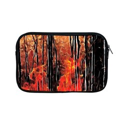 Forest Fire Fractal Background Apple Macbook Pro 13  Zipper Case by Simbadda
