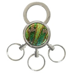 Colorful Chameleon Skin Texture 3 Ring Key Chains by Simbadda