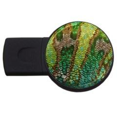 Colorful Chameleon Skin Texture Usb Flash Drive Round (2 Gb) by Simbadda