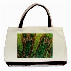 Colorful Chameleon Skin Texture Basic Tote Bag by Simbadda