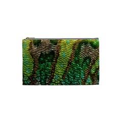 Colorful Chameleon Skin Texture Cosmetic Bag (small)  by Simbadda