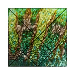 Colorful Chameleon Skin Texture Acrylic Tangram Puzzle (6  X 6 ) by Simbadda