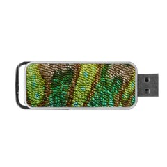 Colorful Chameleon Skin Texture Portable Usb Flash (two Sides) by Simbadda