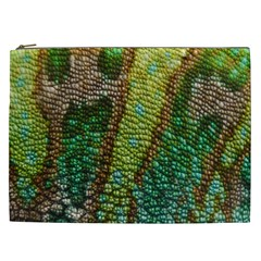 Colorful Chameleon Skin Texture Cosmetic Bag (xxl)  by Simbadda