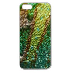 Colorful Chameleon Skin Texture Apple Seamless Iphone 5 Case (clear)