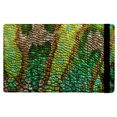 Colorful Chameleon Skin Texture Apple Ipad 2 Flip Case by Simbadda