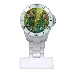 Colorful Chameleon Skin Texture Plastic Nurses Watch by Simbadda