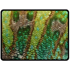 Colorful Chameleon Skin Texture Double Sided Fleece Blanket (large)  by Simbadda