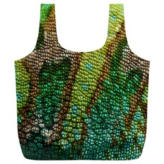 Colorful Chameleon Skin Texture Full Print Recycle Bags (l)  by Simbadda