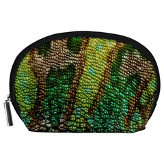 Colorful Chameleon Skin Texture Accessory Pouches (large)  by Simbadda