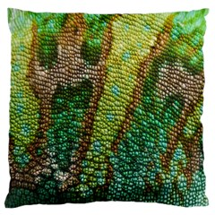 Colorful Chameleon Skin Texture Large Flano Cushion Case (one Side) by Simbadda