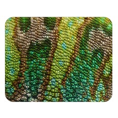 Colorful Chameleon Skin Texture Double Sided Flano Blanket (large)  by Simbadda